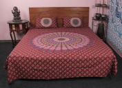 Stunning Ombre Mandala Printed 100 % cotton 3 Pcs Bedding Set Bed cover