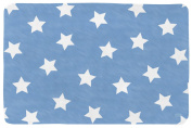 Lottas Lable Softie 64003 Rug with Stars Design in Denim Blue Colour 70 x 100 cm