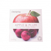 Clearspring | Apple & Plum Puree - Organic | 4 x 2x100g