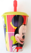 Mickey Mouse Cup with Straw