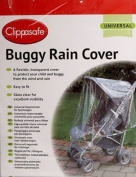 Clippasafe Universal Buggy Rain Cover Easy Fit Clear