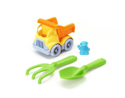 Green Toys Sand & Water Play Dumper Toy with Rake & Shovel