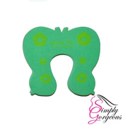 Baby Safety Animal Door Stopper Protector - Green Butterfly