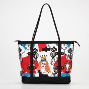 British style printing casual shoulder bag