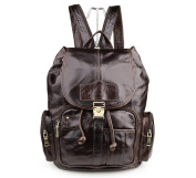 Vintage Handmade Leather Backpack Travel Bag Rucksack School Back Pack Coffee