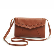 KAMIERFA Girls Casual Style Leather Envelope Clutch Messenger Bags Brown