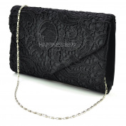 Wocharm(TM) Womens Ladies Lace Clutch Bag handbag & Shoulder Chain Wedding Bridesmaid Party Prom Clutch