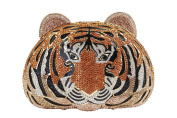 Yilongsheng Women's Tiger Shaped Evening Bags with Dazzling Crystal Rhinestones