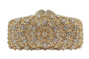 Yilongsheng Women's Dazzling Clutch Bags with Nested Rounding Crystal Diamonds