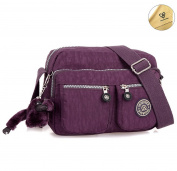 Tiny Chou Lightweight Waterproof Nylon Shoulder Bag Compact Crossbody Messenger Bag with Pockets