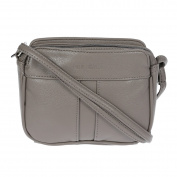Christian Wippermann® Women's Cross-Body Bag Black Dark taupe 18,0 x 14,5 x 4,0 cm