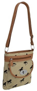 EyeCatchBags - Florida Floral Cross Body Canvas Shoulder Bag
