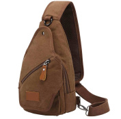Man leisure style diagonal chest pack cafe L