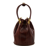 Tuscany Leather Clara Secchiello Leather Brown Bag - Made in Italy