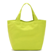 Oath_song Eco-friendly Cotton Blend Canvas Tote Bag Small Size Plain Neon Green