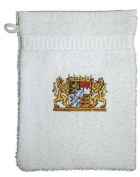 """WASH CLOTHS with high-quality Embroidery """"BAVARIA CREST EMBLEM"""" NEW (31323) Colour free to choose - White"""