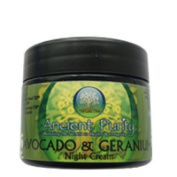 Avocado Night Cream - 50ml (with Geranium) skin health eczema wrinkles