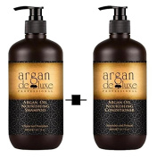 Argan De Luxe 100% Pure Organic Moroccan Argan Oil Nourishing Shampoo & Conditioner 300ml