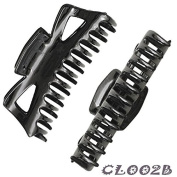 Ladies Claw Clips Hair Folding Hairpins Black Girls Style Plastic Hair Clamps