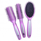 3pcs Professional Salon Ladies Womens Hair Styling Hairdressing Hairdresser Message Brushes Barbers Combs Set