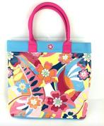 LADIES GIRLS PINK TOTE BEACH HOLIDAY PVC TRANSPARENT SWIMMING SHOPPER BAG NEW
