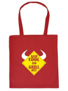 Funny Printed Fabric Cotton Bag - Keep Cool and Grill Out Bag for Carrying