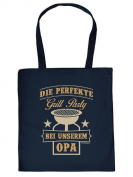 Fabric Bag - Great Grill Fun Printed Party at Opa Cotton Bag Pouch Carry Bag For