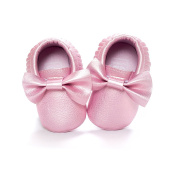 LIVEBOX Infant Baby Girls' Bow Mocassins Soft Sole Anti-Slip Tassels Prewalker Toddler Shoes