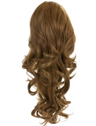 LADIES CLIP IN DRAWSTRING CURLY LONG PONYTAIL HAIR PIECE VOLUME 1589B BLOSSOM