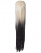 NEW LADIES STRAIGHT DIP DYE 60cm LONG PONYTAIL CLAW CLIP HAIR PIECE KOKO G138