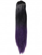 NEW LADIES STRAIGHT DIP DYE 60cm LONG PONYTAIL CLAW CLIP HAIR PIECE KOKO G131