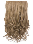 CELEBRITY CLIP IN ONE PIECE 27cm WIDE CURLY HAIR EXTENSION WEFT SET HAIRPIECE