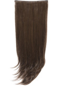 NEW WOMENS THREE PIECE SYNTHETIC LONG STRAIGHT HAIR EXTENSIONS 60cm WEFT SET ENVY