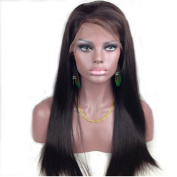 Drasawee 50cm Full Lace wigs 100% Indian Remy Silky Straight Human Hair 2# Dark Brown With 1PC Wig Cap