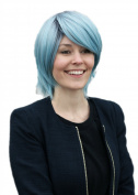 Prettyland wig - promoted smooth Shorthair trendy Wig in ice blue dark approach with strands C657