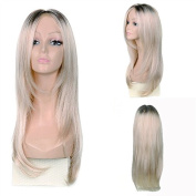 MeiruiHair Cosplay Long Straight Blonde Golden Wigs for Women