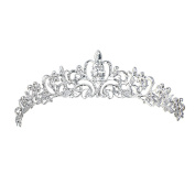 Contever® Wedding Tiara Bridal Crown adorned with Crystal Rhinestone Upscale Headband