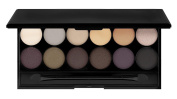 12 Colours Eyeshadow Palette With Mirror   Natural Tones by RIVENBERT