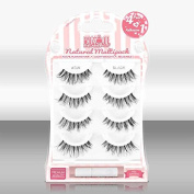 Blinque Premium Multipack (4+1) 100% Human Hair False Eyelashes 4 Pairs & Adhesive Glue, Style #DW