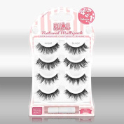Blinque Premium Multipack (4+1) 100% Human Hair False Eyelashes 4 Pairs & Adhesive Glue, Style #605