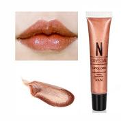 NANI Little Sexy Nude Colour Moisturising Lip Gloss Diamond Shiny Liquid Lipgloss Gold