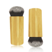 KIMUSE Power Contour & Bronzer Brush Synthetic Hair Bamboo Handle Makeup Contour Power Brush