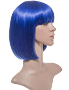NEW LADIES BOB NEON COLORFULL WIG SHORT STRAIGHT PARTY HAIR KOKO UK 15 colours