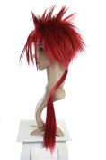 Prettyland C413 - Final Fantasy RENO Spiky long Hair RED Cosplay Wig