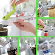 Handy 6-in-1 Multi Purpose Opener Kitchen Gadget - Tins Cans, Bottles, Jars, Ring Pull Cans, Seals and Bottle Screw Tops