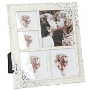 Vintage Style Ornate Cream Metal Multi Photo Frame New Boxed