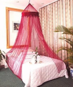 Burgandy Bed Canopy