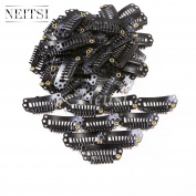 Neitsi® 50PCS Clip for Hair Extensions Wigs I SHAPE U SHAPE Metal Hair Snap Clips DIY