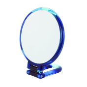 Danielle Creations Swirl Hand Held Mirror, Blue 14 cm