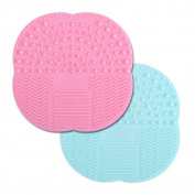 G2PLUS Silicone Brush Cleaner 2 PCS Make Up Brushes Cleaning Pad Little Rubber Mat 10 cm * 10 cm